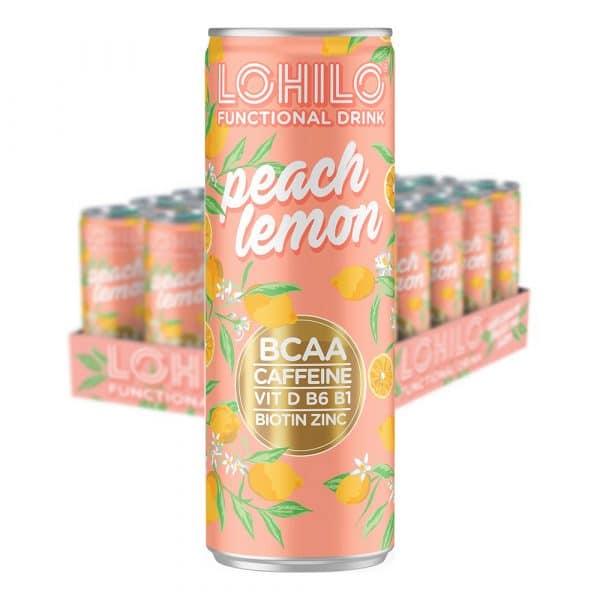 Lohilo Peach Lemon - 24-pack