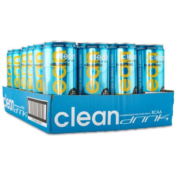 Clean Drink Ananas/Mango BCAA 33cl - 24-pack