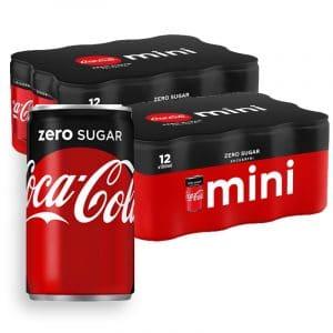 Coca-Cola Zero Mini 24-pack - 62% rabatt