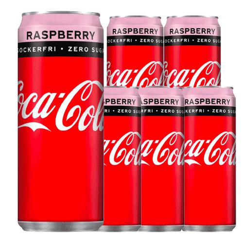Coca-Cola Zero Raspberry - 6-pack