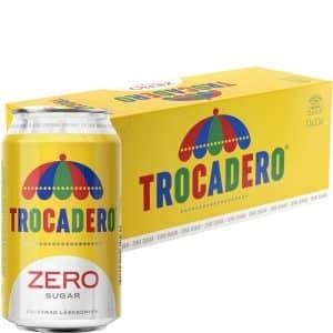 """Hel Låda Läsk Trocadero """"Zero Sugar"""" 10 x 33cl - 22% rabatt"""