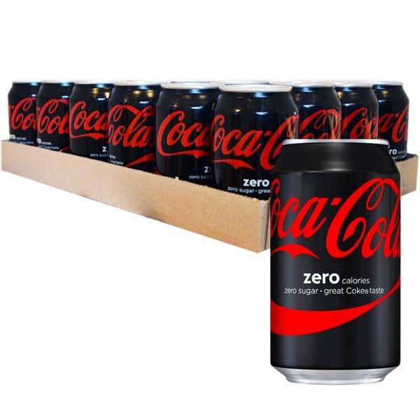 "Hel Platta Coca Cola ""Zero"" 24 x 330ml - 59% rabatt"