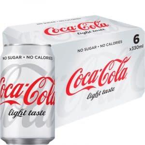 """Läsk """"Coca Cola Light"""" 6 x 330ml - 32% rabatt"""