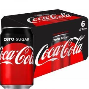 "Läsk ""Coca Cola Zero"" 6 x 330ml - 31% rabatt"