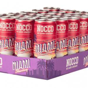 NOCCO BCAA 330ml Miami Strawberry - Summer Edition 2019 24-pack