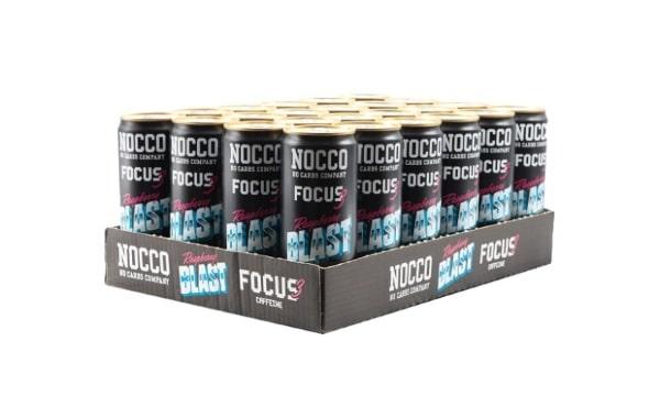 NOCCO Focus 330ml Raspberry Blast 24-pack