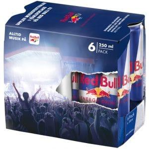 Red Bull 6 x 250ml - 25% rabatt
