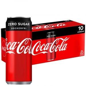 Coca-Cola Zero 10-pack - 33% rabatt