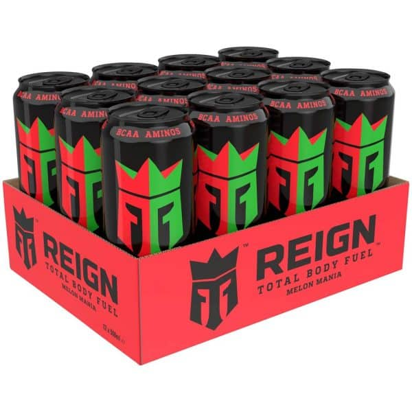 12 X Reign Total Body Fuel, 500 Ml, Melon Mania