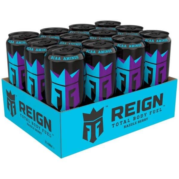 12 X Reign Total Body Fuel, 500 Ml, Razzle Berry