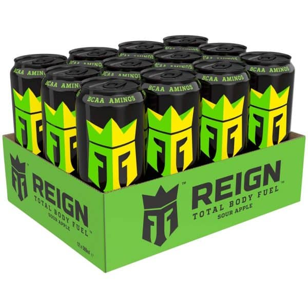12 X Reign Total Body Fuel, 500 Ml, Sour Apple