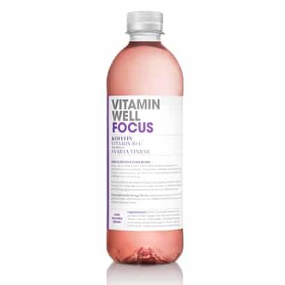 12 X Vitamin Well, 500 Ml, Focus Svarta Vinbär