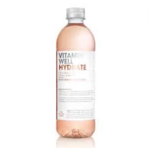 12 X Vitamin Well, 500 Ml, Hydrate Rabarber Jordgubb