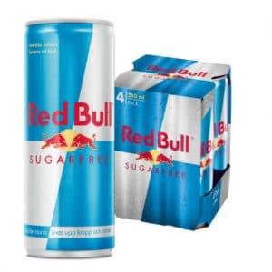 4 X Red Bull, 250 Ml, Sugarfree