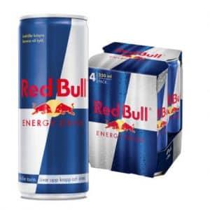 4 X Red Bull Energy Drink, Original, 250 Ml