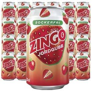 Zingo Jordgubb Sockerfri - 33 cl x 24 st