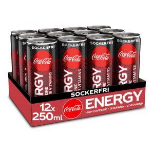 12 X Coca-cola Energy, 250ml, Energy Zero