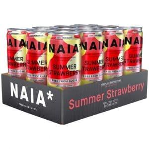 12 X Naia* Energy Bcaa, 330 Ml, Summer Strawberry