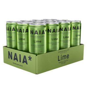 12 X Naia* Energy Drink, 330 Ml, Lime