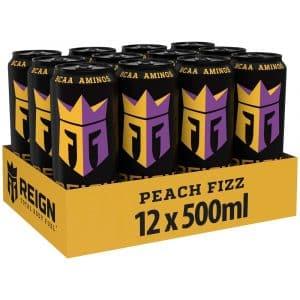 12 X Reign Total Body Fuel, 500 Ml, Peach Fizz