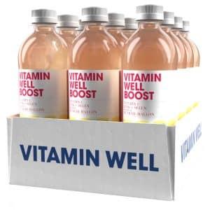 12 X Vitamin Well, 500 Ml, Boost Blåbär Hallon