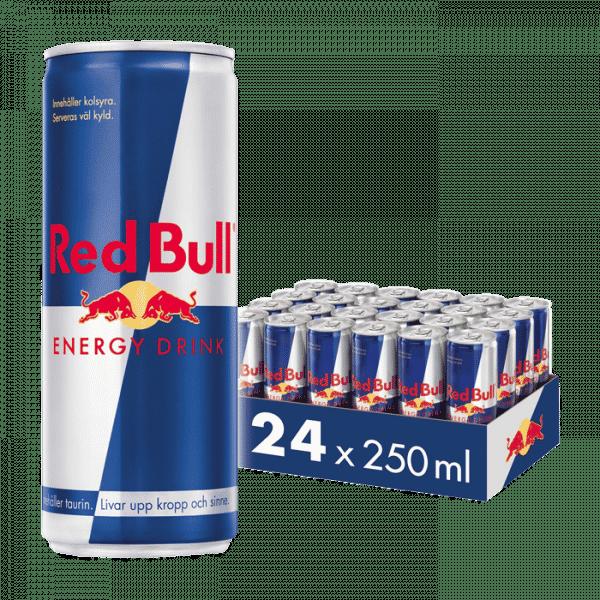 24 x Red Bull Energidryck, 250 ml, Original