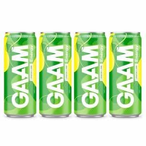 4 X Gaam Energy, 330 Ml, Lemon Lime