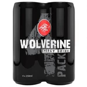 4 X Wolverine Energy Drink, 250 Ml