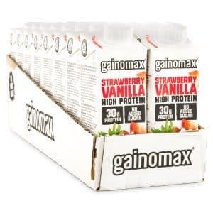 Gainomax High Protein Drink Strawberry Vanilla 16-pack