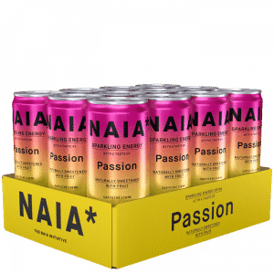 12 x NAIA Energy Drink, 330 ml, Passion