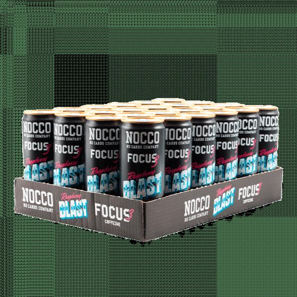 24 x NOCCO FOCUS 3, 330 ml, Raspberry Blast